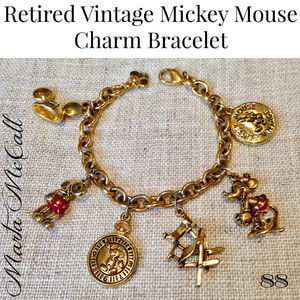 RETIRED Vintage Mickey Mouse Charm Bracelet for sale